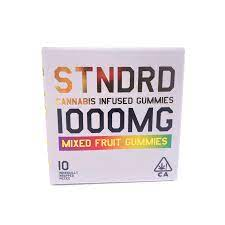 Image of STNDRD 1000mg Indica Gummies
