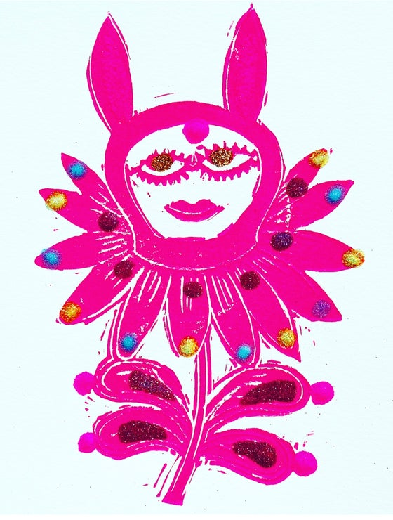 Image of Pink Bunny Flower