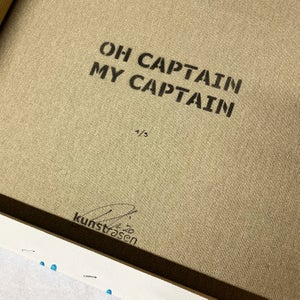 "Image of ""Oh Captain, My Captain"" Number 1 of 3 50x50cm Deep Edge Canvas"