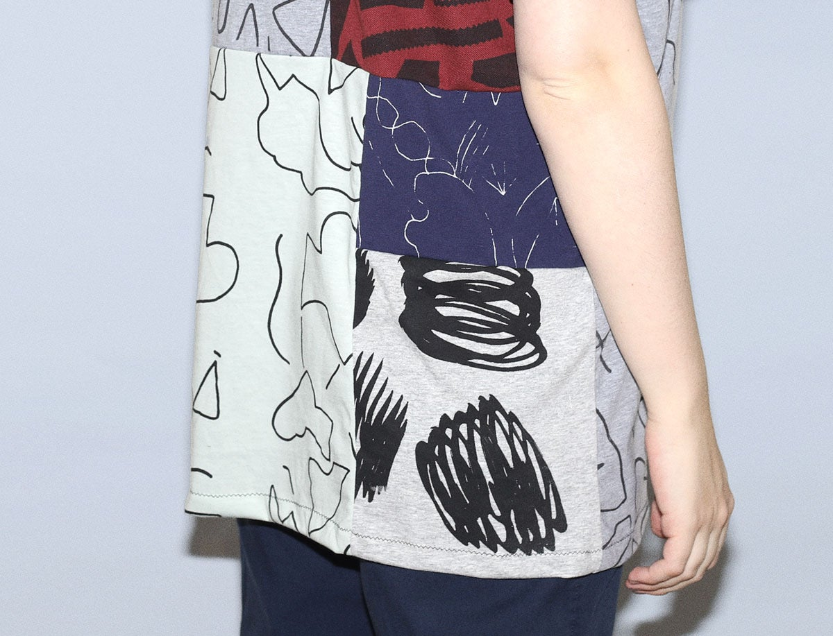 Image of PATCHWORK UNISEX TSHIRT NO.2