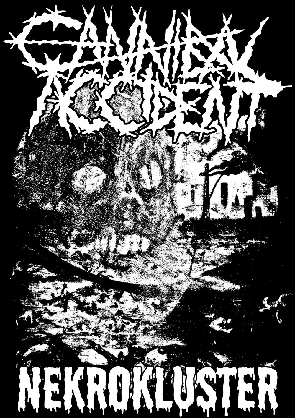 Cannibal Accident Exclusive Bundle - Nekrokluster - White Tape + T-Shirt