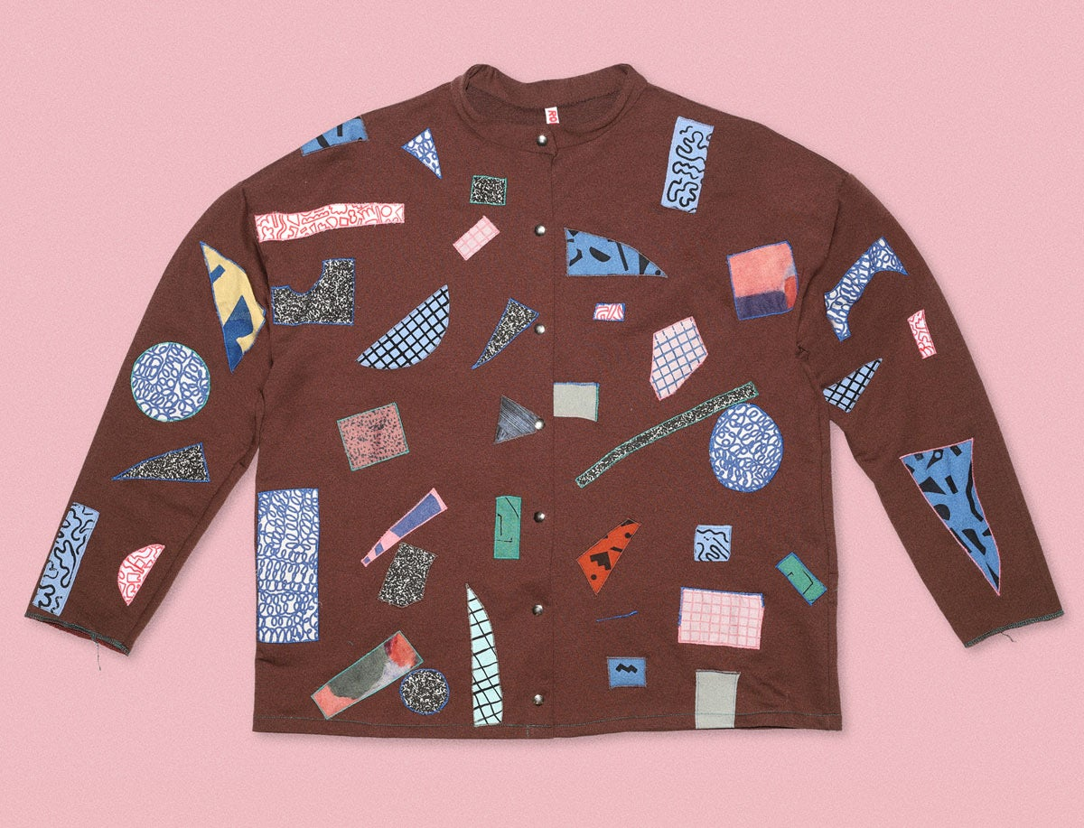 Image of SWEATSHIRT JACKET WITH PATCHES