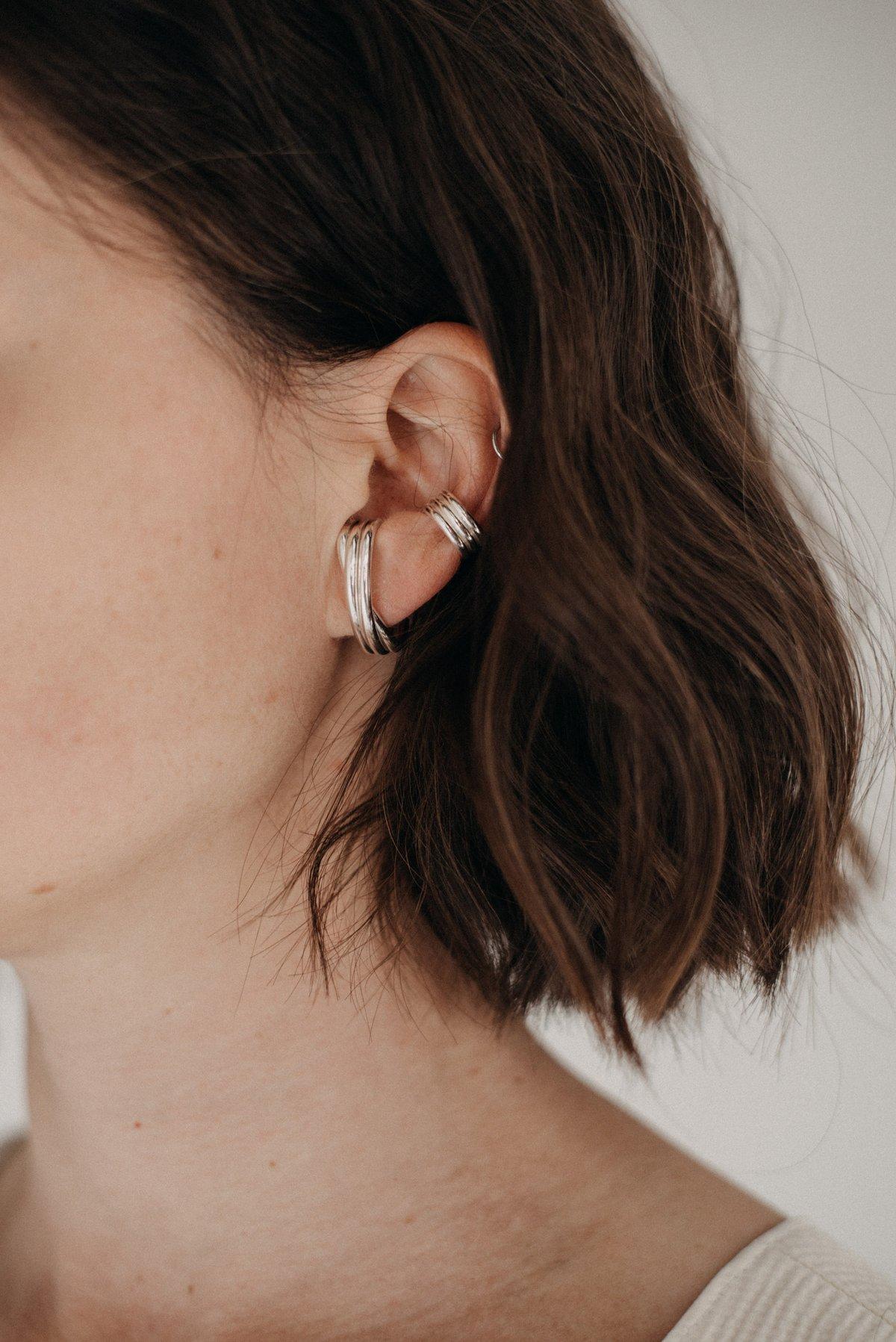 Image of silver earrings