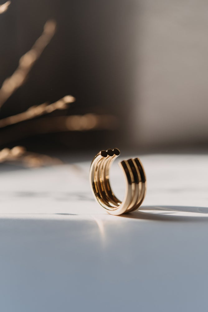 Image of gold plated ring