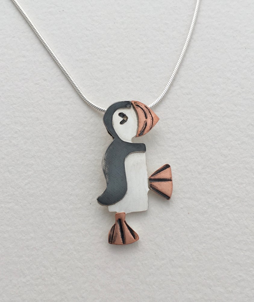 Image of Puffin pendant.