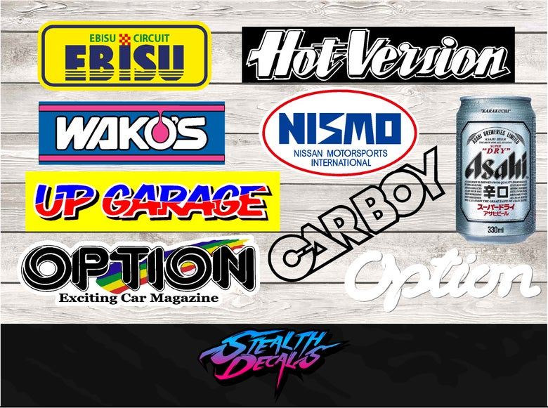 Image of 9x JDM Drift Sponsor Sticker set