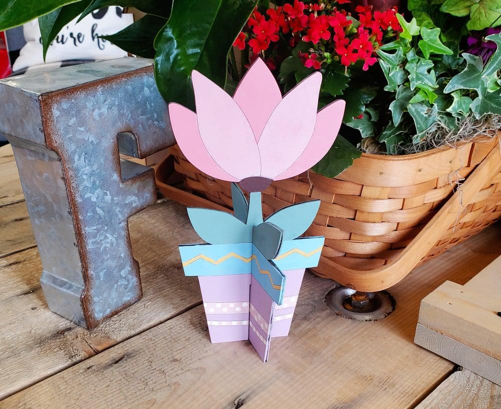 Image of Wood Flower Pot