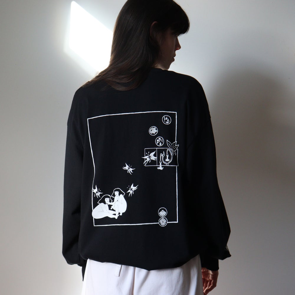 Image of Jealous of All Things With Wings // Black Long Sleeve