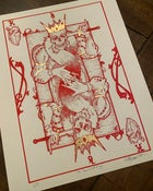 Image of Hearts of Kings Limited Edition of 5 Hand Embellished Gold Leaf Giclee Prints