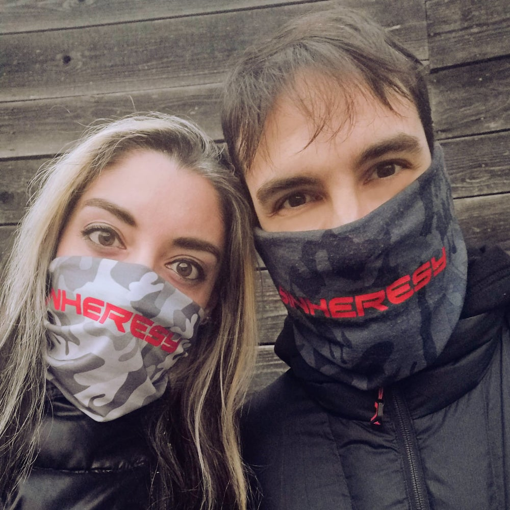 Image of RED LOGO NECK WARMER