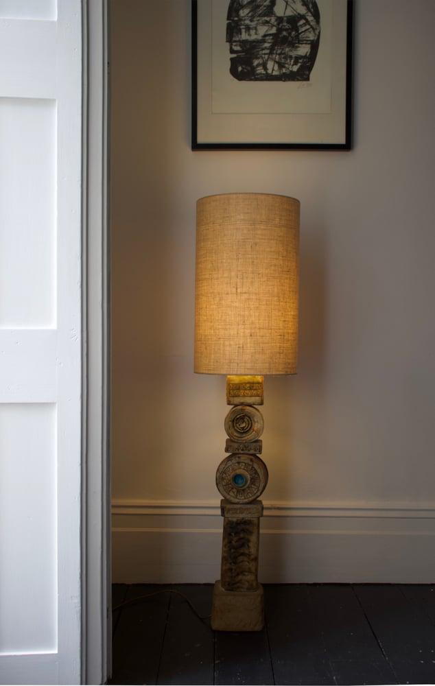 Image of Set of Two Bernard Rooke Studio Ceramic TOTEM Lamps, England, 1960s [2]