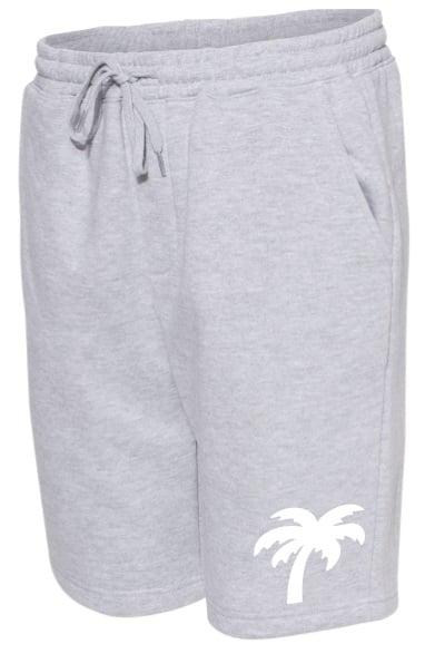 Image of Palm Logo Fleece Shorts (Grey)
