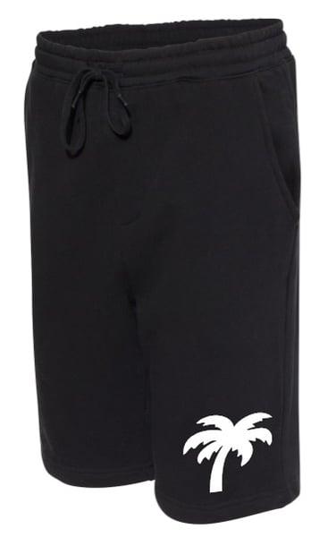 Image of Palm Logo Fleece Shorts (Black)