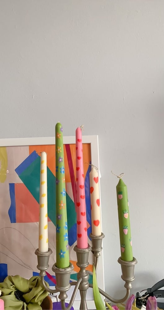 Image of Hand painted candles