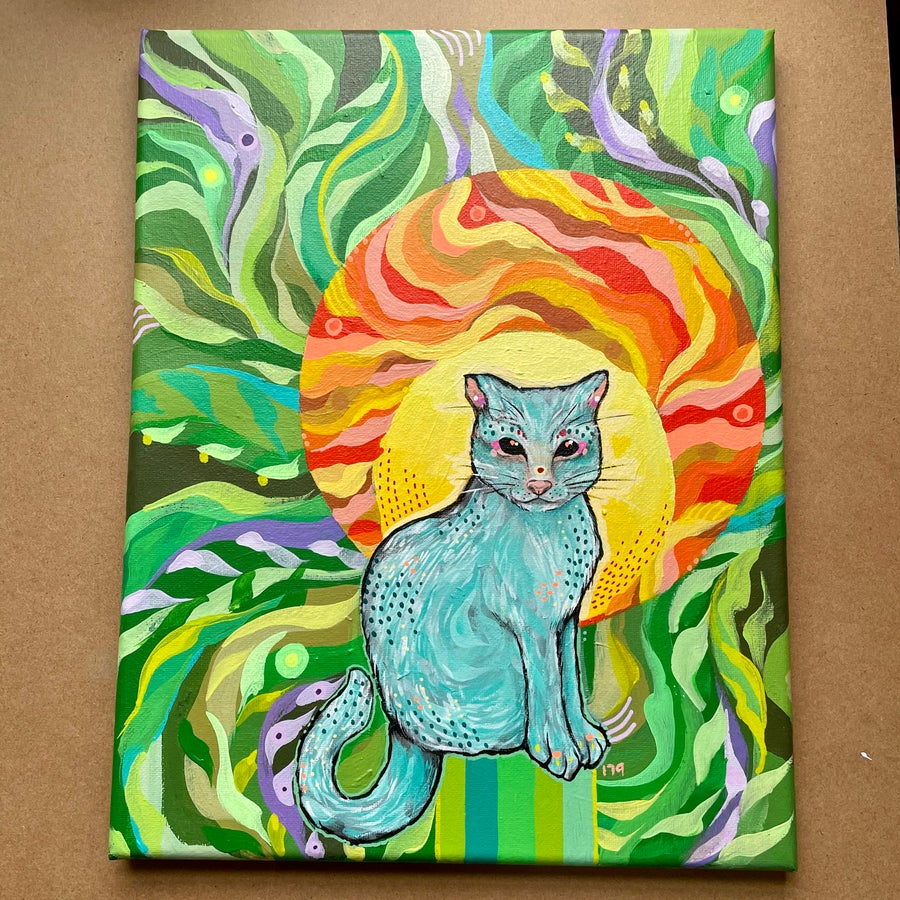 Image of Little • cat• painting