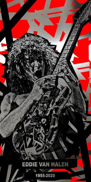 Image of EVH BRUSHED METAL or MOONLAVA • Limited Edition Foil Print