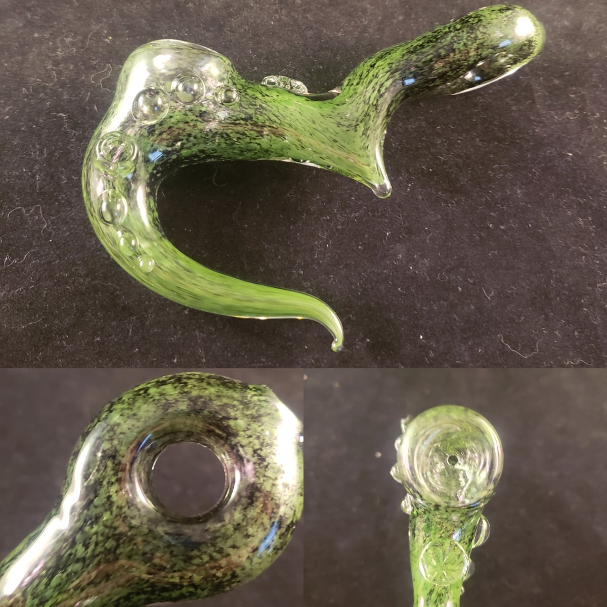 green and black claw pipe