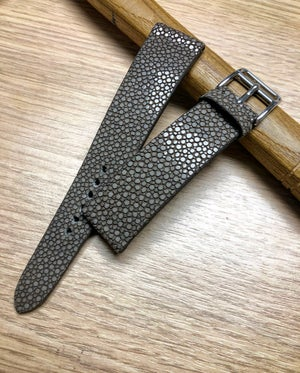 Image of Taupe Stingray classic watch strap