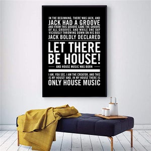 """Image of House Music Poster - """"In the beginning there was Jack...let there be house!"""""""