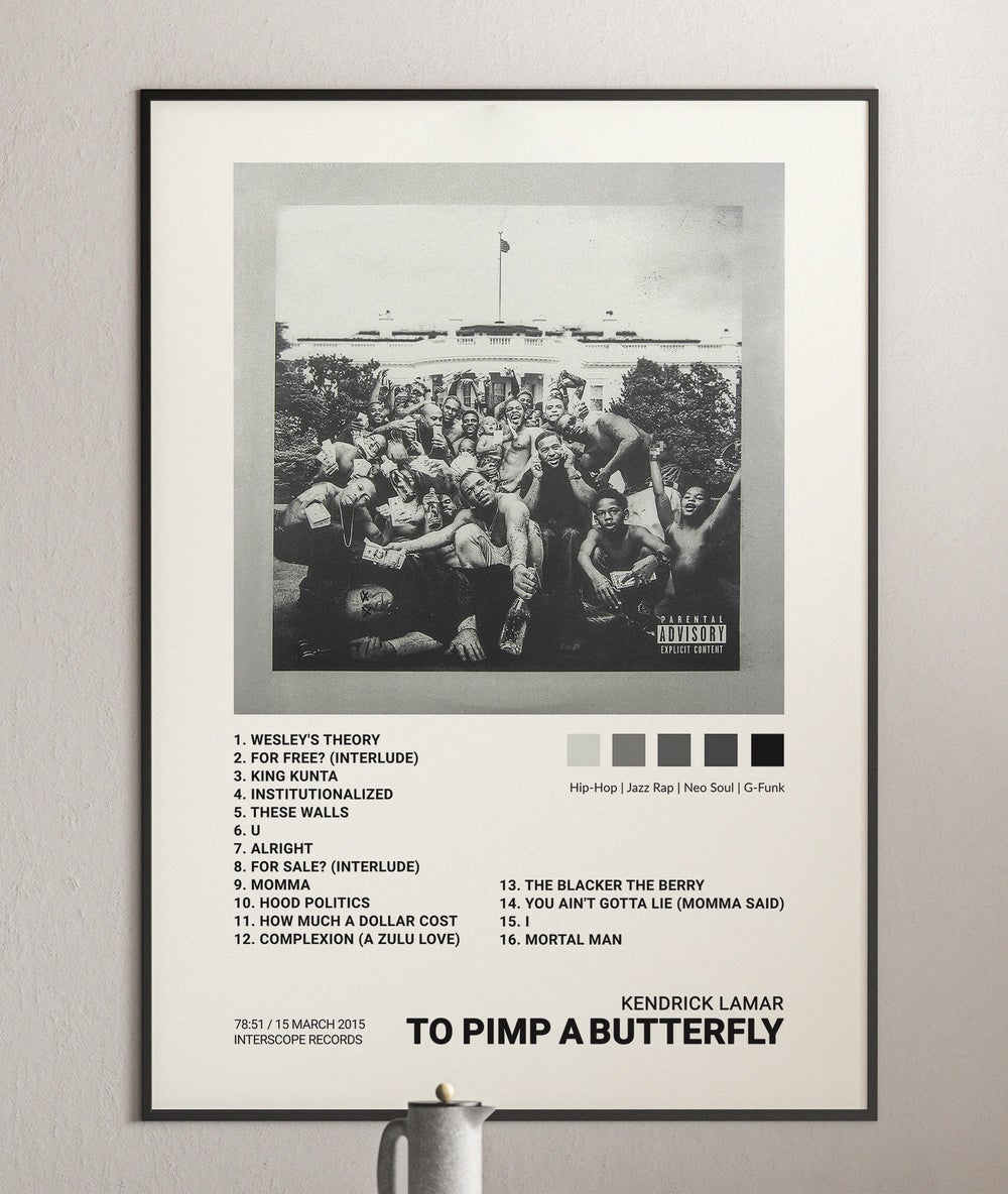 Kendrick Lamar - To Pimp a Butterfly, Album Cover Poster Print