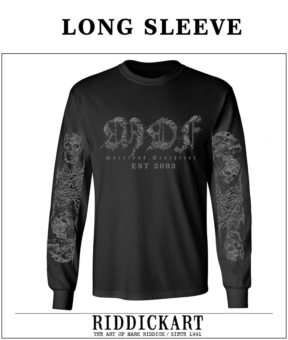 Maryland Deathfest Logo Long Sleeve Shirt - Riddick Design #2