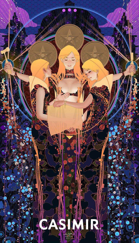 Tarot Series - THREE of PENTACLES / 錢幣三 塔羅牌系列 限量版畫