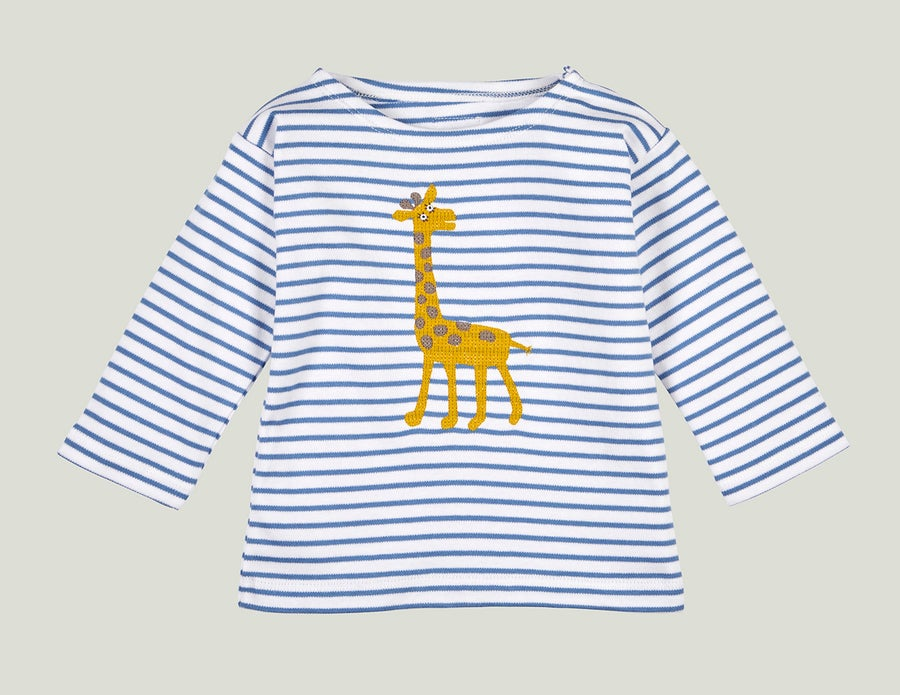 Image of Giraffen Shirt blau Art. 201268