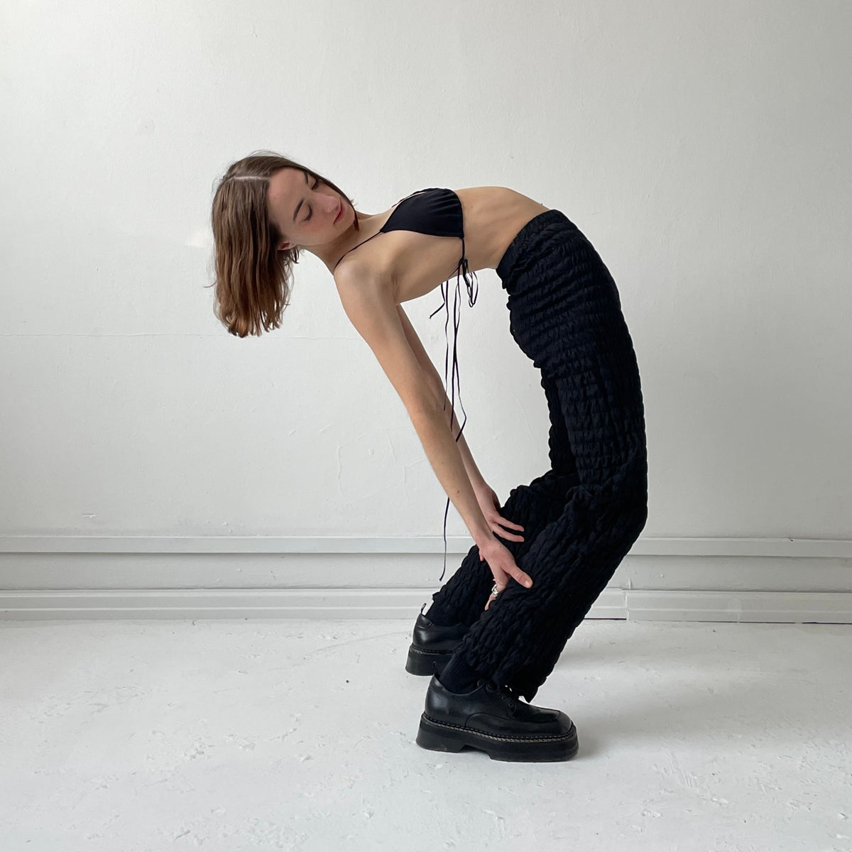 Image of RUCHED TROUSERS