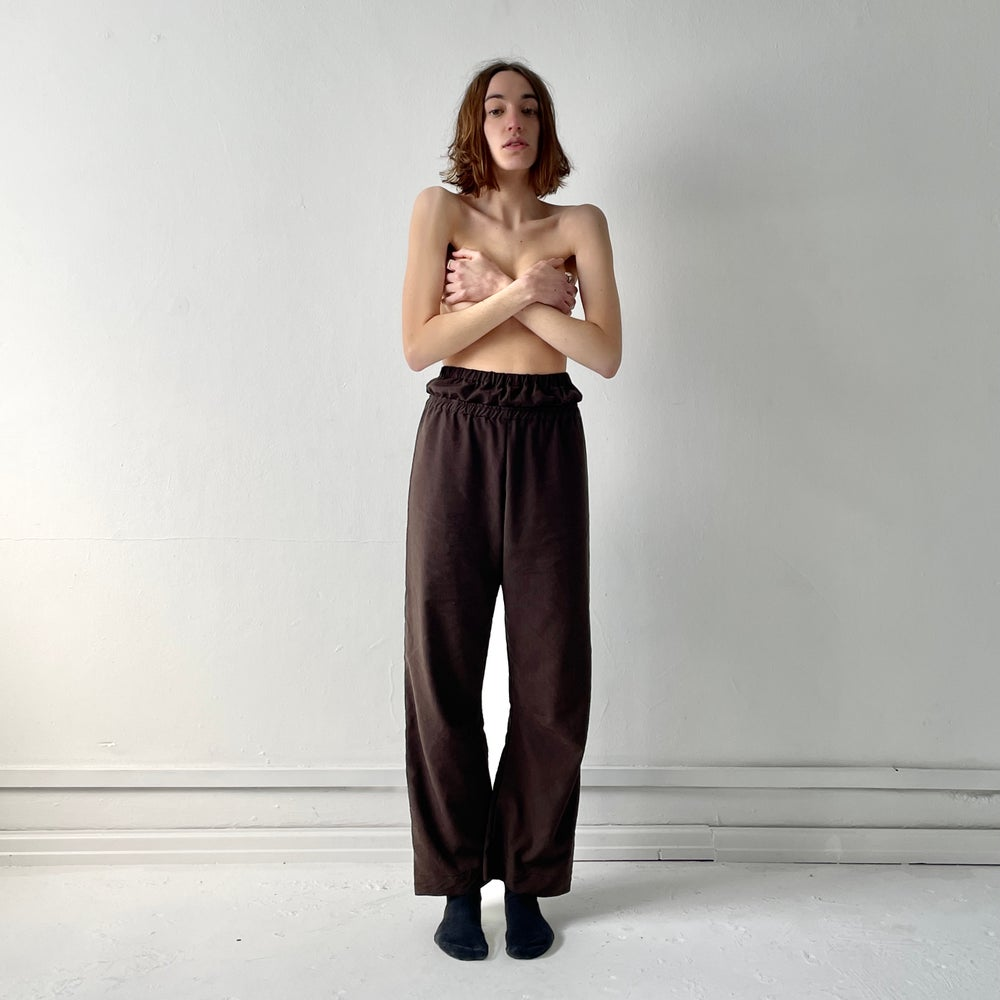 Image of DOUBLE WAISTBAND TROUSERS