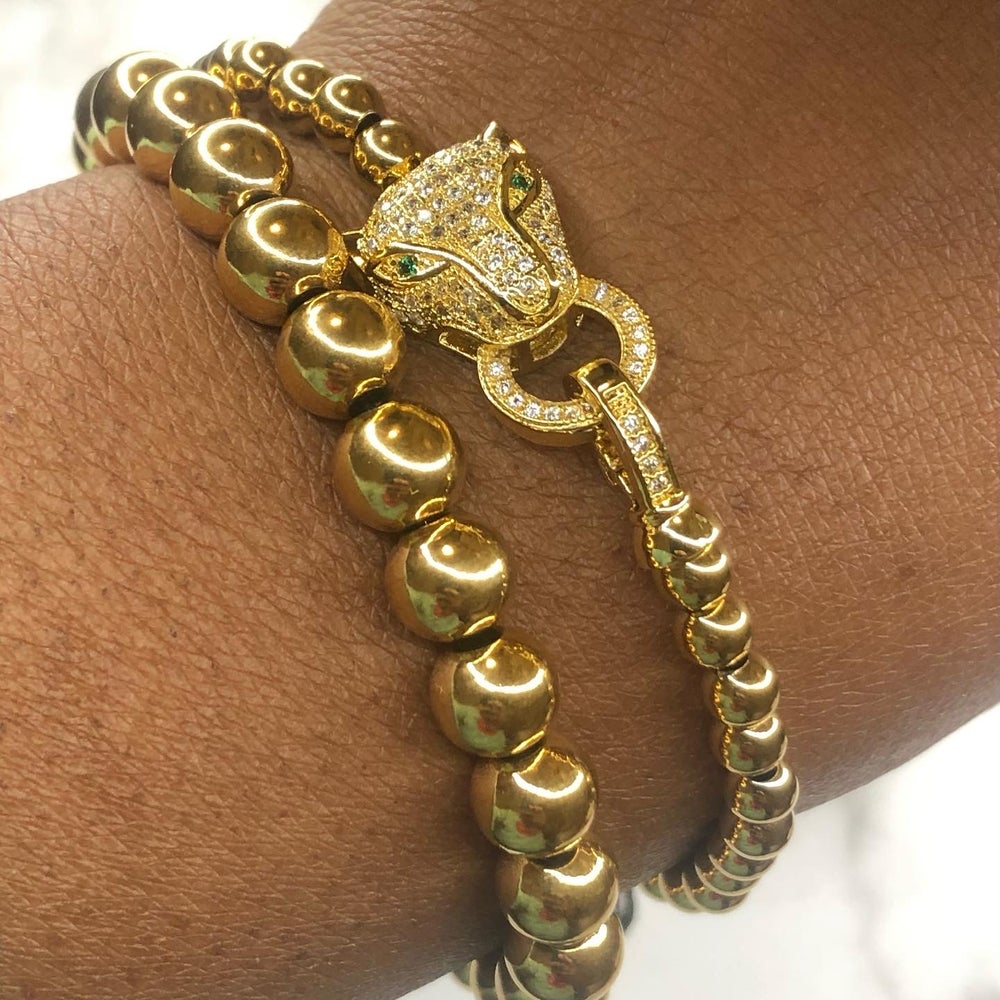 Image of The Leopard Toggle bracelet