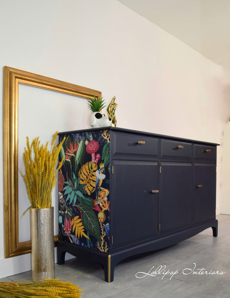 Image of Stag sideboard in navy blue
