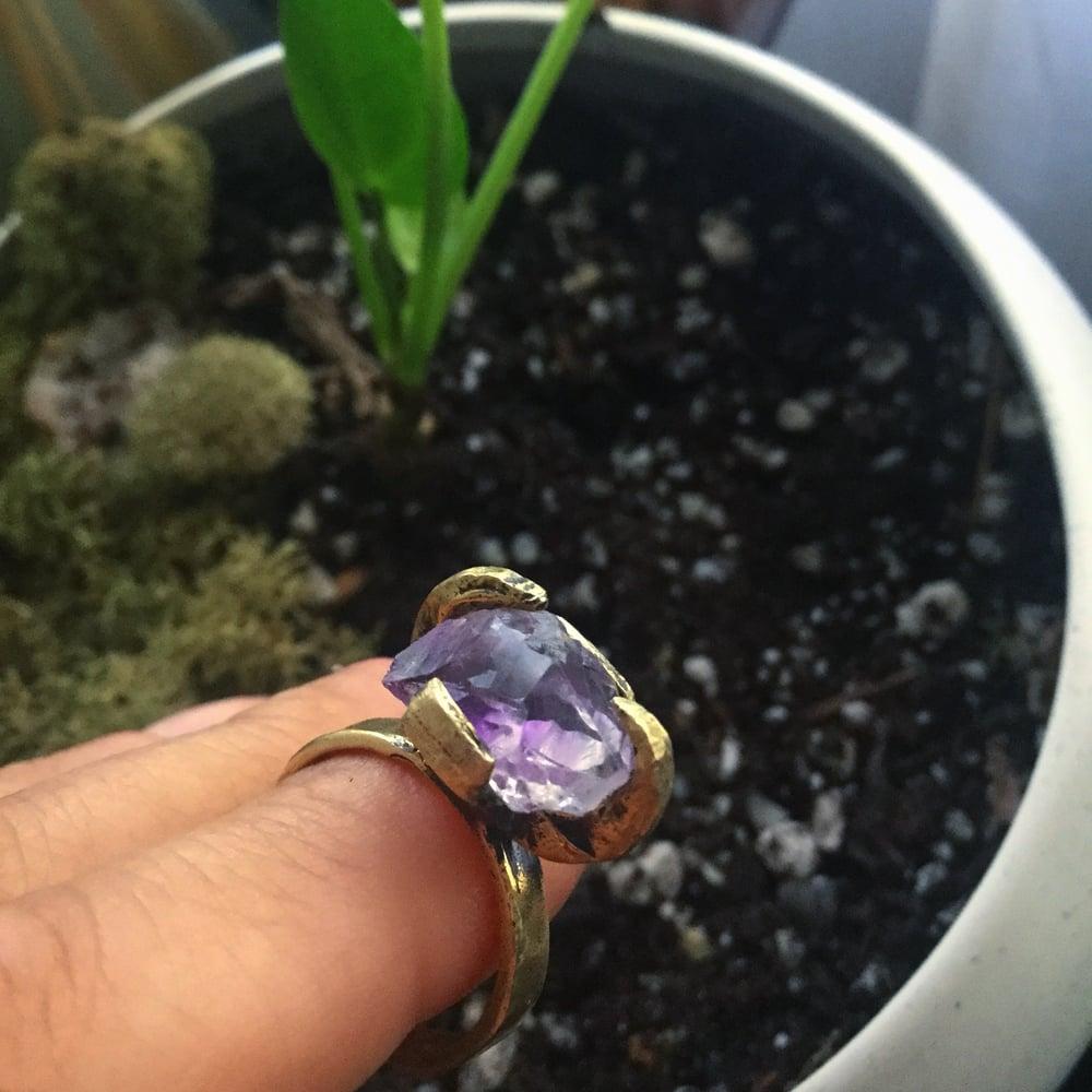 Image of Sight-Seer ring Raw Amethyst