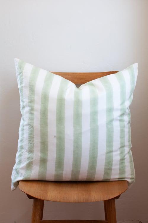 Image of Decorative Pillow Green Stripe