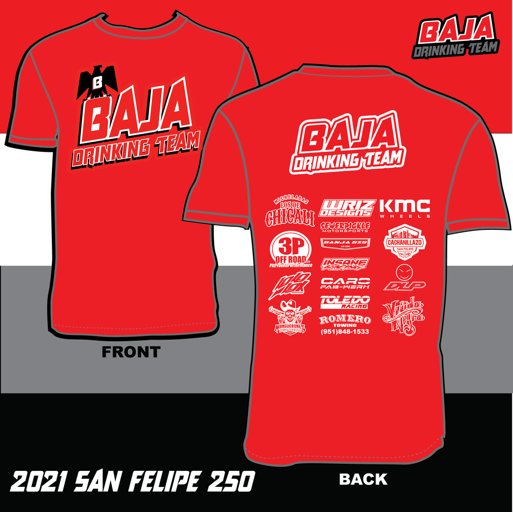 Image of 2021 San Felipe 250 Sponsors Race Day T-Shirt