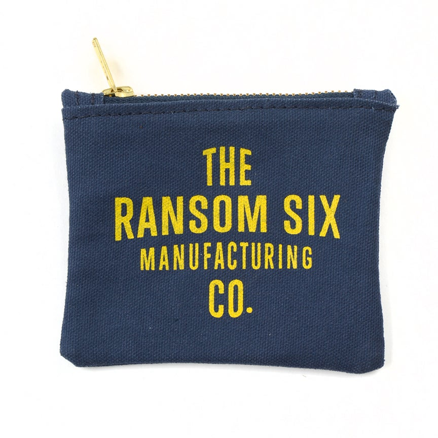 Image of Navy Zip Wallet / Coin Pouch