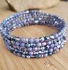 Lavender Sparkle Wrap Bracelet