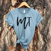 Ladies MT Script Tee -Heather Slate