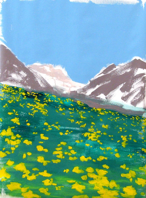 Image of Landscape Study Original Painting