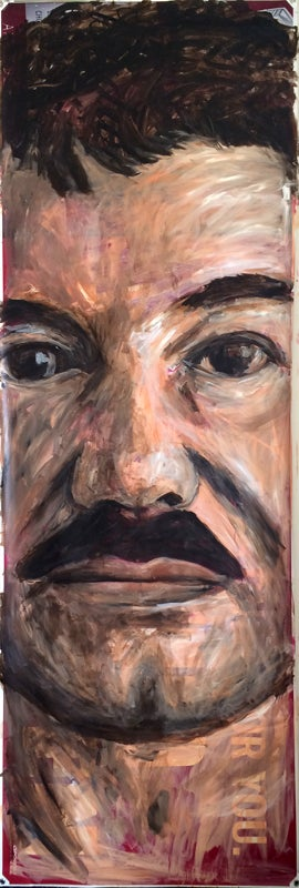 Image of St. Chapo de Narcotica Original Painting