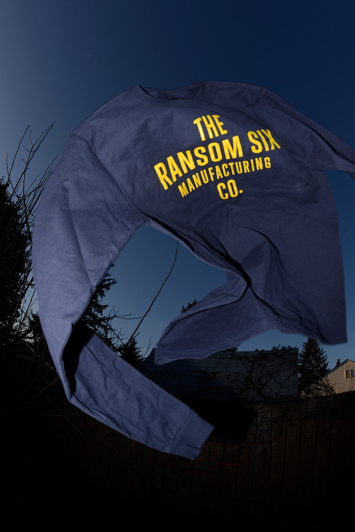 Image of Ransom Six Manufacturing Co. Logo Long Sleeve Tee