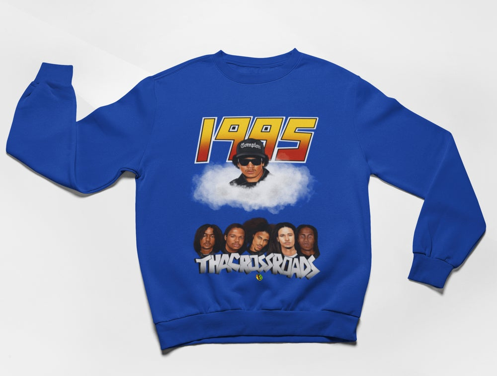 Image of BONE & EAZY [1995 4EV SWEATSHIRT] (BLUE)