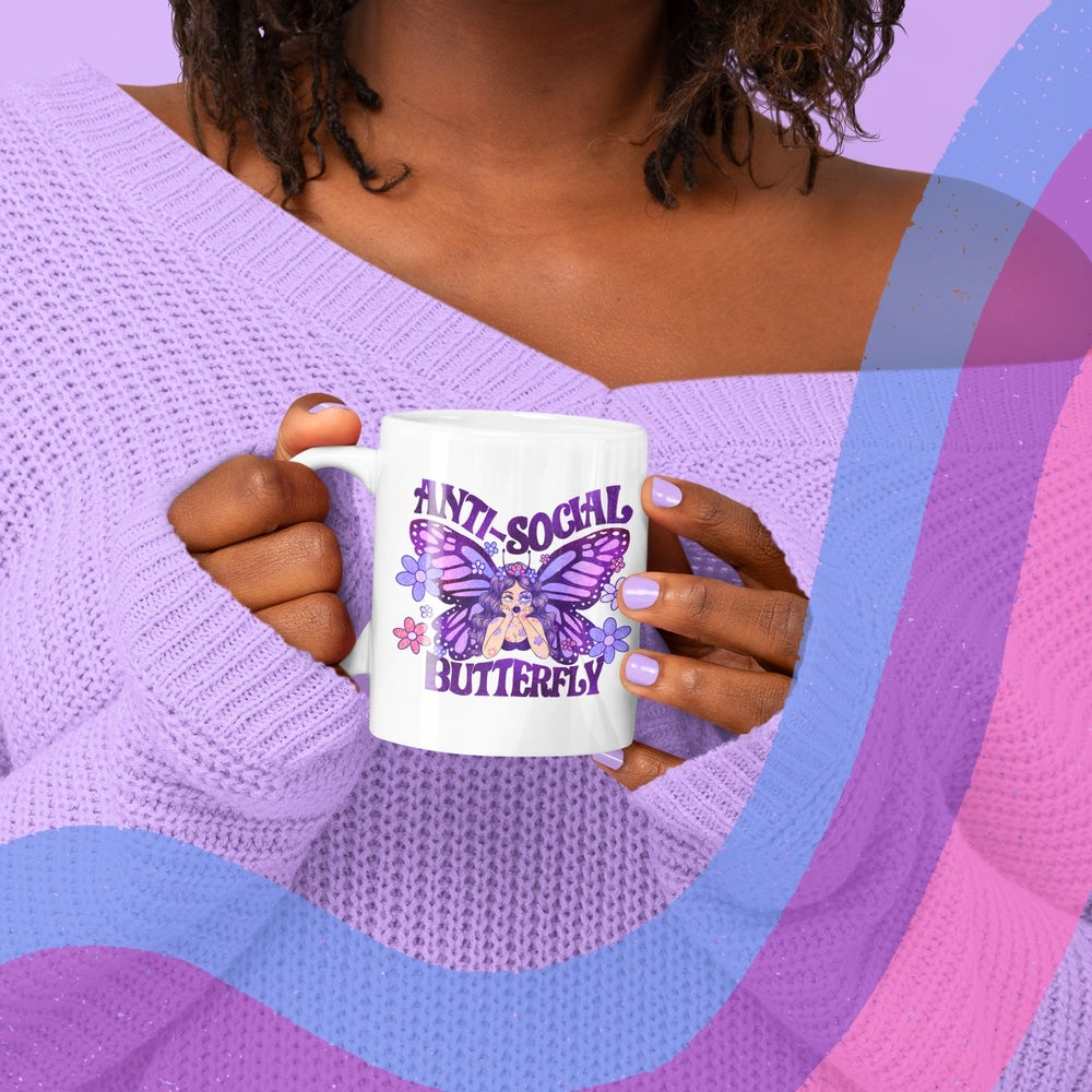 Image of ANTI-SOCIAL BUTTERFLY MUG