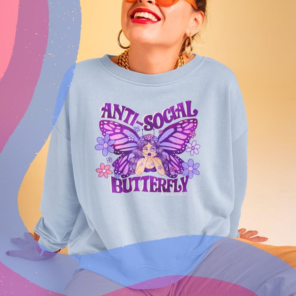 Image of ANTI-SOCIAL BUTTERFLY SWEATSHIRT