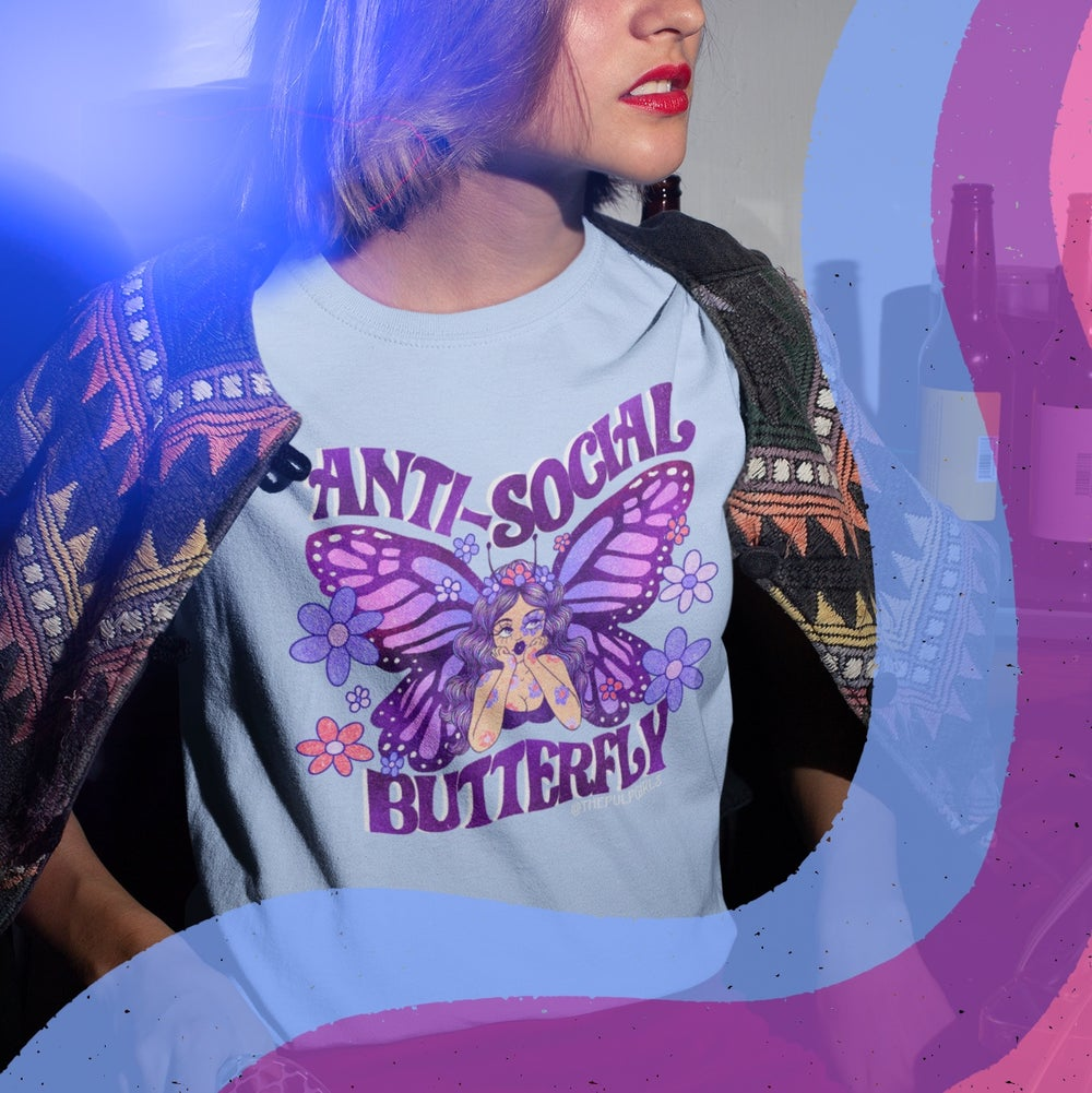 Image of ANTI-SOCIAL BUTTERFLY TEE