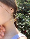 Butterflies and the bees earrings
