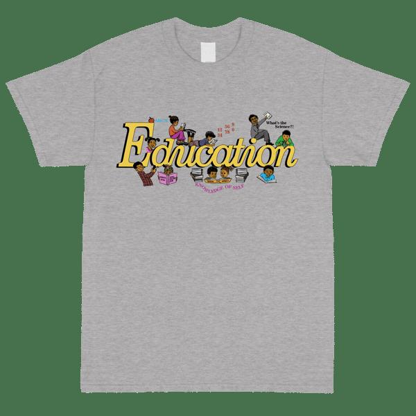 Image of 8oz Education Grey T Shirt