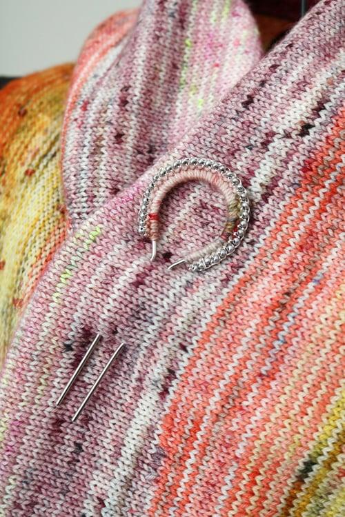 Image of PEACOCK SHAWL~HAIR PIN - Magnolia