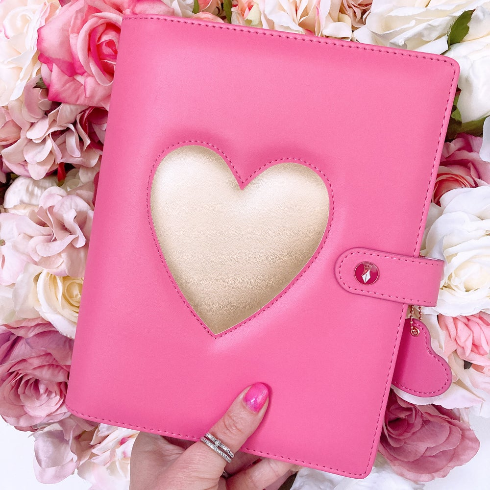 Image of GRANDE PLANNER -HEART OF GOLD BRIGHT PINK