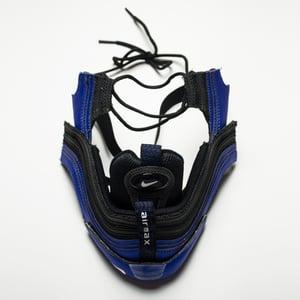 Image of SNEAKER MASK - BLUE / BLACK AM 97 - HEAD PIECE