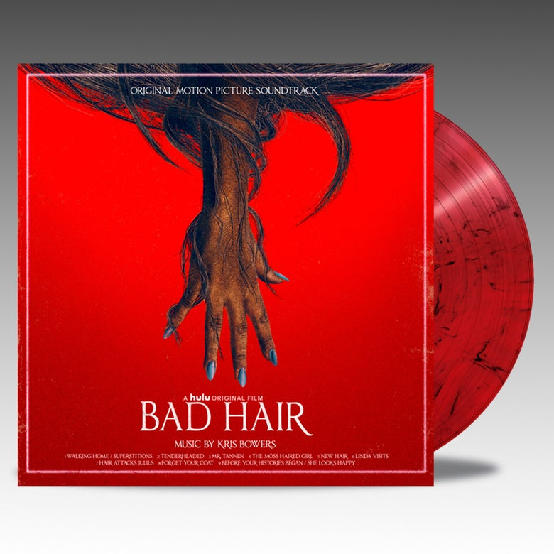 Image of Bad Hair (Original Soundtrack)  - 'Transparent Red W/ Black Hair' Viny - Kris Bowers & Kelly Rowland